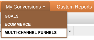 MultiChannel Funnels Menu