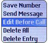Basic cell phone call management requires some form of number editing